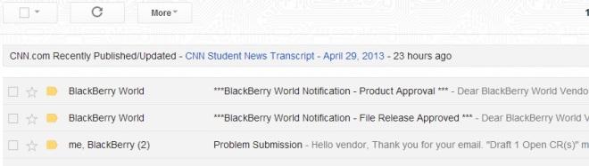 Email dari Blackberry